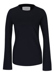 Tmavomodré tričko s dlhým rukávom YAYA