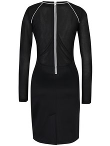 Čierne šaty s bielym lemom Calvin Klein Jeans Devyn