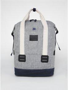 Krémovo-modrý vzorovaný batoh/taška s prímesou konope Burton Tinder 25 l