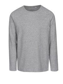Světle šedé žíhané klučičí tričko s dlouhým rukávem name it Villum