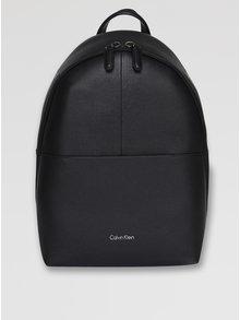 Černý kožený batoh Calvin Klein Jeans Lial
