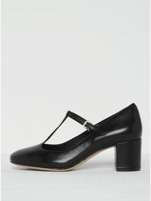 Pantofi negri din piele naturală cu baretă - Clarks Orabella Fern