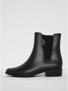 Čierne členkové topánky s gumovou vsadkou Zaxy London Boot II