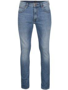 Světle modré pánské slim džíny s vyšisovaným efektem Lee