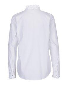 Bílá košile s volány a ozdobným knoflíkem Rich & Royal