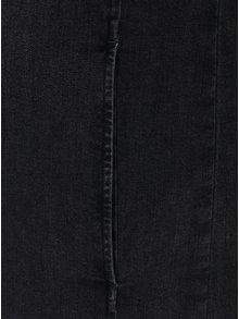 Tmavomosivé rifľové košeľové šaty s dlhým rukávom Lee