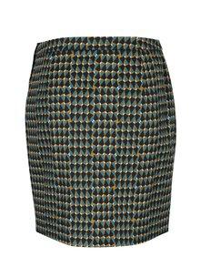 Černo-zelená pouzdrová sukně se vzorem Blutsgeschwister