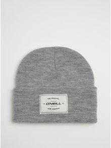 Sivá melírovaná pánska čapica s nášivkou O'Neill