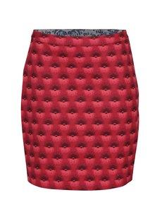 Červená pouzdrová sukně se vzorem Blutsgeschwister