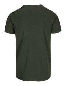 Tricou din bumbac verde inchis pentru barbati - Shine Original Andy