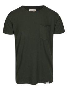 Tmavě zelené tričko s kapsou Shine Original Andy