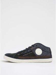 Černo-modré pánské tenisky Pepe Jeans Industry
