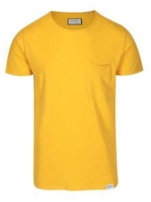 Žlté tričko s vreckom Shine Original Andy