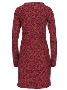 Vínovo-cihlové vzorované šaty Blutsgeschwister