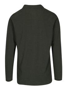 Tmavě zelené polo tričko s dlouhým rukávem Shine Original