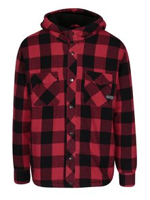 Čierno-červená bunda s kapucňou Shine Original