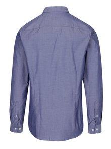 Modrá melírovaná formálna slim fit košeľa Selected Homme Done
