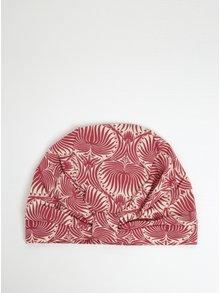 Krémovo-růžová vzorovaná čepice Blutsgeschwister
