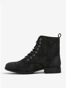Čierne členkové topánky Pieces Porcia