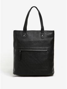 Černá velká kabelka do ruky Pieces Mallie