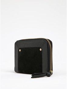 Černá kožená peněženka na zip Pieces Jase