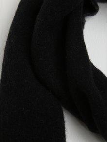 Sivo-čierny dámsky vlnený šál so strapcami GANT