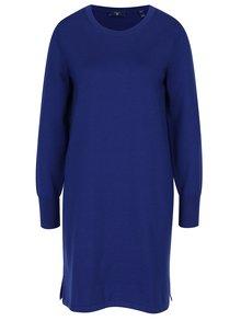 Tmavě modré svetrové vlněné šaty GANT