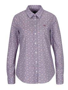 Modro-vínová dámská květovaná košile GANT