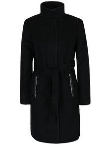 Čierny kabát s opaskom VERO MODA Prato