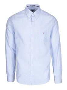 Bílo-modrá pánská pruhovaná formální slim košile GANT