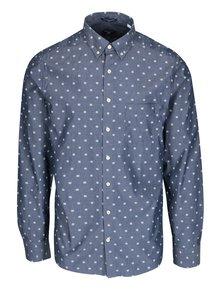 Modrá pánská vzorovaná slim košile GANT