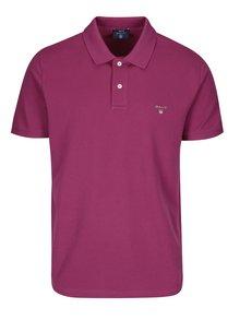 Tmavě růžové pánské regular polo tričko GANT