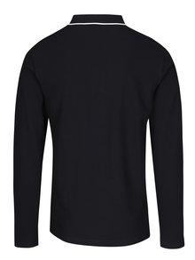 Černé pánské polo tričko s dlouhým rukávem GANT