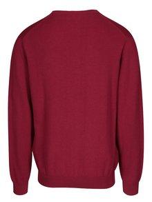 Vínový pánský svetr s véčkovým výstřihem GANT