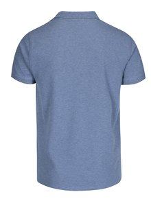 Modré pánské žíhané polo tričko GANT