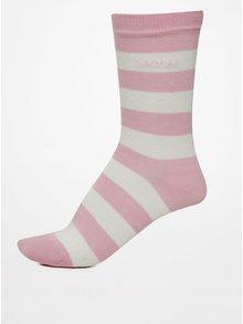Sada tří párů světle růžových dámských vzorovaných ponožek GANT