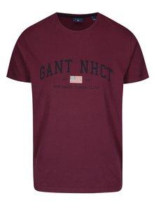 Vínové pánské tričko s potiskem GANT