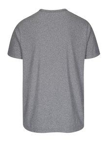 Šedé pánské žíhané tričko s potiskem GANT