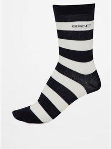 Súprava troch párov tmavomodrých dámskych vzorovaných ponožiek GANT