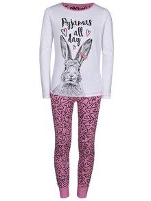 Bílo-růžové holčičí pyžamo 5.10.15.