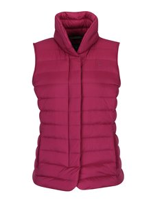 Tmavě růžová dámská prošívaná péřová vesta GANT