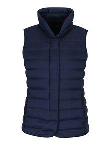 Tmavě modrá dámská prošívaná péřová vesta GANT