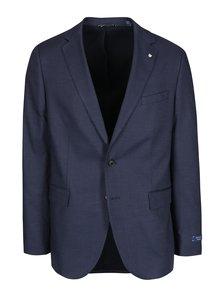 Modré pánské sako s jemným vzorem GANT