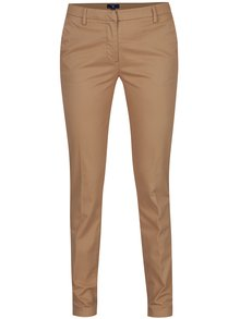 Béžové dámské chino kalhoty GANT