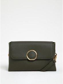 Khaki crossbody kabelka s detaily ve zlaté barvě ONLY Kamma