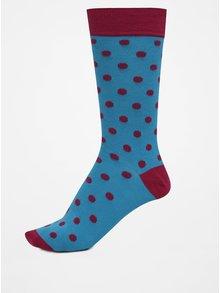 Modré pánské puntíkované ponožky GANT