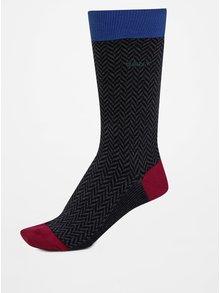 Modro-šedé pánské vzorované ponožky GANT