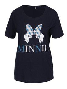 Tmavomodré tričko s potlačou ONLY Minnie