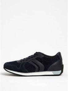 Pantofi sport albaștri din piele întoarsă Geox Vinto C