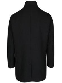 Černý kabát s příměsí vlny Selected Homme Mosto